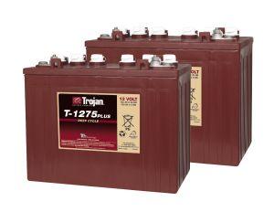 Kit 2pz Trojan T1275 Plus Batteria Acido Libero Deep Cycle 12V 150Ah 24V 3,6kWh #20050830-2