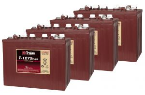 Kit 4pcs Trojan T1275 Plus Deep Cycle Flooded Battery 12V 150Ah 48V 7,2kWh #20050830-4