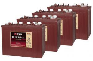 Kit 4pz Trojan T1275 Plus Batteria Acido Libero Deep Cycle 12V 150Ah 48V 7,2kWh #20050830-4