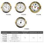 Orologio in ottone lucido Ø esterno 120mm #FNIP12765