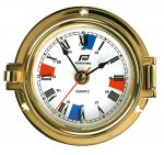 Polished brass clock External Ø 120mm #FNIP12768