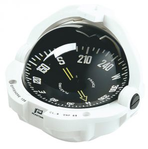 White Offshore 135 Compass Black conical card Front reading #FNIP23493