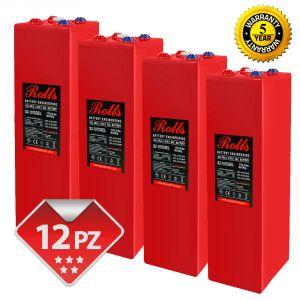 Rolls OpzV GEL Banco Batterie 24 Volt 30.60 kWh C100 #200ROLLSS21070GEL-24V