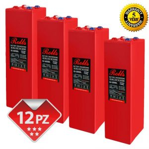 Rolls OpzV GEL Banco Batterie 24 Volt 44.88 kWh C100 #200ROLLSS21600GEL-24V