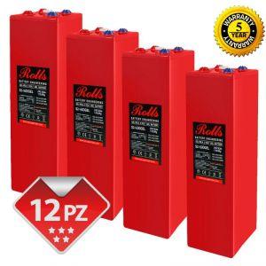 Rolls OpzV GEL Battery Bank 24 Volt 44.88 kWh C100 #200ROLLSS21600GEL-24V
