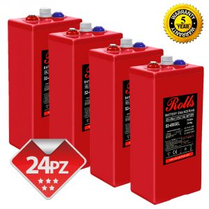 Rolls OpzV GEL Banco Batterie 48 Volt 25.92 kWh C100 #200ROLLSS2450GEL