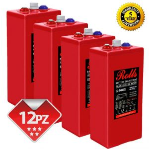 Rolls OpzV GEL Battery Bank 24 Volt 18.43 kWhC100 #200ROLLSS2640GEL-24V