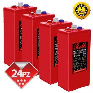 Rolls OpzV GEL Banco Batterie 48 Volt 46.56 kWh C100 #200ROLLSS2825GEL
