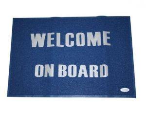 Tappeto Welcome on board Blu 60x90cm #LZ57198