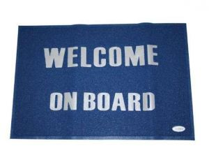 Welcome on board mat Blue 60x90cm #LZ57198