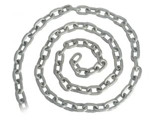 Galvanised Genoese chain 6 mm x 100 mm  #OS0137206-100